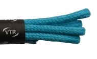 Tkaničky bavlněné kulaté tenké 45 cm tyrkysová