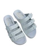 Pantofle Fussbett třípáskový bílý-hladká stélka 5-20103