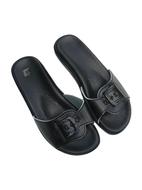 Pantofle Fussbett jednopáskový černý-hladká stélka 5-20106