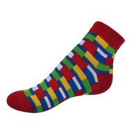 VšeProBoty ponožky TRENDY červené