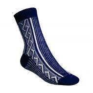 Ponožky Gultio art. 10 - zimní norský vzor modrobílé
