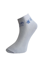 Art. 60 Kotníkové PRAVÉ VALAŠSKÉ ponožky Modrá kytka Knebl Hosiery