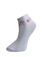 Art. 60 Kotníkové PRAVÉ VALAŠSKÉ ponožky Červená kytka Knebl Hosiery