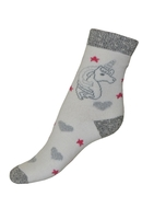Art. 18 Dětské zimní termo ponožky Jednorožec bílý Knebl Hosiery