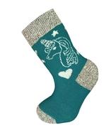 Art. 18 Dětské zimní termo ponožky Jednorožec zelený Knebl Hosiery