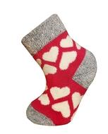 Art. 18 Dětské zimní termo ponožky červené s bílými srdíčky Knebl Hosiery