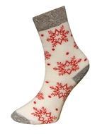 Art. 17 Dámské zimní thermo ponožky Červená vločka Knebl Hosiery