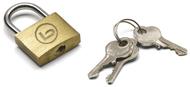 BZ 1006 zámek na kufr na klíček