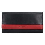 Dámská peněženka LAGEN kožená 50400 černá/červená BLK/CARDINAL