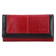 Dámská peněženka LAGEN kožená BLC/4228 červená/černá RED/BLK