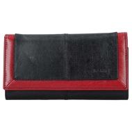 Dámská peněženka LAGEN kožená BLC/4228 černá/červená BLK/RED