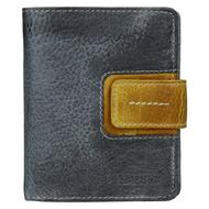 Dámská peněženka LAGEN kožená 3310 šedá/žlutá GREY/YELLOW