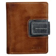 Dámská peněženka LAGEN kožená 3310 hnědá/šedá CARAMEL/GREY
