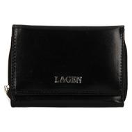Dámská peněženka LAGEN kožená 50453 černá BLK