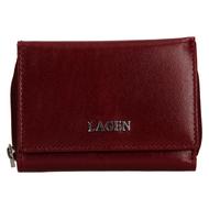 Dámská peněženka LAGEN kožená 50453 vínová CHERRY