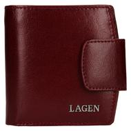 Dámská peněženka LAGEN kožená 50465 vínová CHERRY