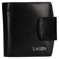Dámská peněženka LAGEN kožená 50465 černá BLK