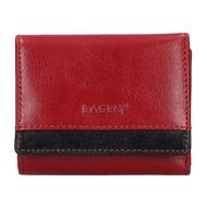 Dámská peněženka LAGEN kožená BLC/160231 červená/černá RED/BLK