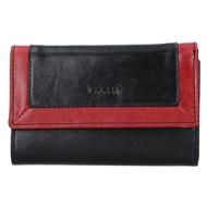Dámská peněženka LAGEN kožená BLC/4390 černá/červená BLK/RED