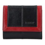 Dámská peněženka LAGEN kožená BLC/4391 černá/červená BLK/RED