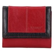 Dámská peněženka LAGEN kožená BLC/4391 červená/černá RED/BLK