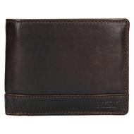 Pánská peněženka LAGEN kožená 1996/T tmavě hnědá D.BRN