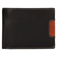 Pánská peněženka LAGEN kožená 615195 černá/světle hnědá BLK/TAN