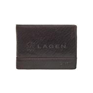 Pánská peněženka LAGEN kožená LM-64665/T tmavě hnědá DBR