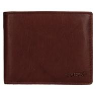 Pánská peněženka LAGEN kožená V-76 hnědá BRN