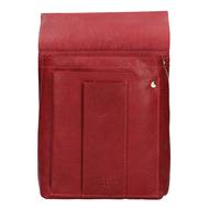 Pouzdro na číšnickou peněženku LAGEN kožené 5167 červená RED