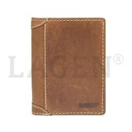 Pánská peněženka LAGEN kožená 51146 světle hnědá TAN