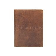 Pánská peněženka LAGEN kožená 2001/V hnědá BRN