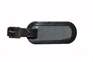 Jmenovka na kufr kožená černá