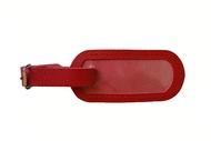 Jmenovka na kufr kožená červená