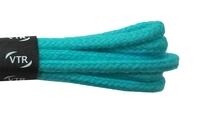 Tkaničky bavlněné kulaté tenké 60 cm tyrkysová
