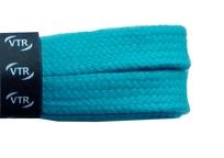 Tkaničky bavlněné ploché 120 cm tyrkysová