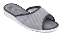 Manžestrové pantofle dámské s otevřenou špičkou 6-20086