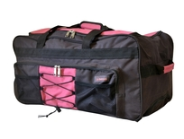 BZ 3479 cestovní taška na kolečkách brown-pink