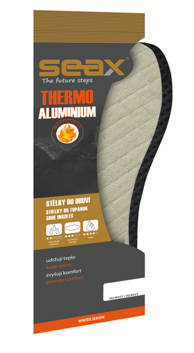 SEAX vložky do bot Thermo Aluminium