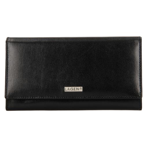 Dámská peněženka LAGEN kožená 50038 černá BLK