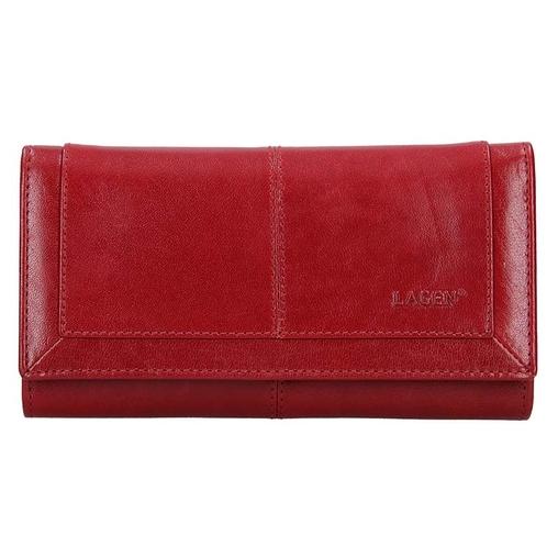 Dámská peněženka LAGEN kožená BLC/4228 červená/červená RED/RED